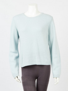 Gucci Light Blue Cashmere Long Sleeve Sweater Size S