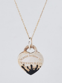 Tiffany & Co. Sterling Silver Color Splash Heart Tag Necklace