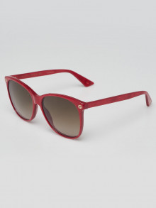 Gucci Red Acetate Tinted Sunglasses-0024S