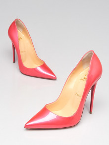 Christian Louboutin Pink Iridescent Patent Leather So Kate 120 Pumps Size 7/37.5