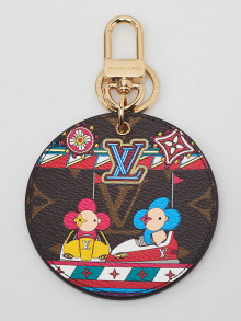 Louis Vuitton Limited Edition Monogram Canvas Christmas Animation Bumper Cars Key Holder and Bag Charm