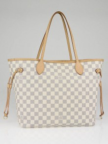 Louis Vuitton Azur Damier Canvas Neverfull MM Bag