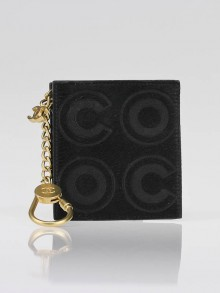 Chanel Black Pony Hair Coco Key and Change Holder