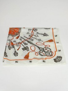 Hermes Les Clefs Silk Reissue Cathy Latham 1965 Square Scarf