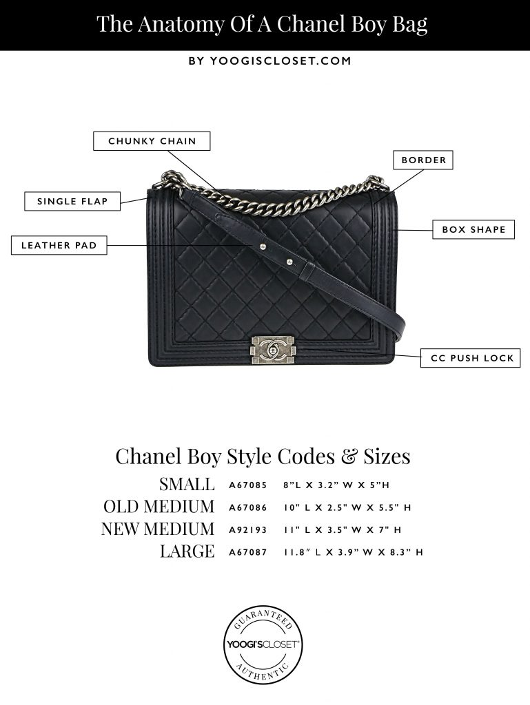 Chanel Boy Bag Guide And Size Infographic