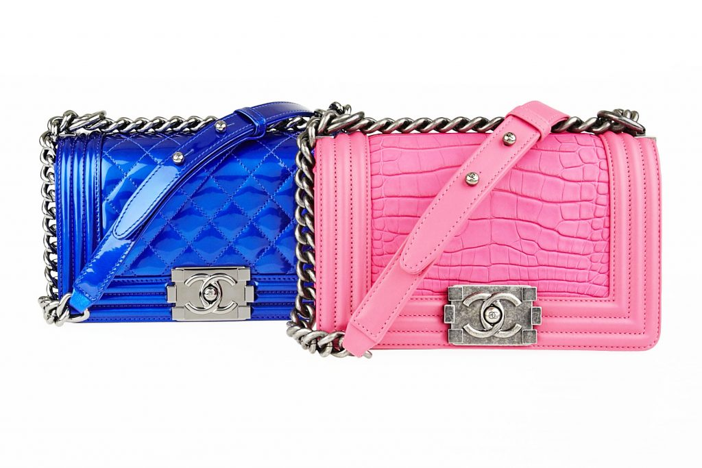 52bcd591cea605 Chanel Pink Alligator Boy Bag on The Boy Bag Guide