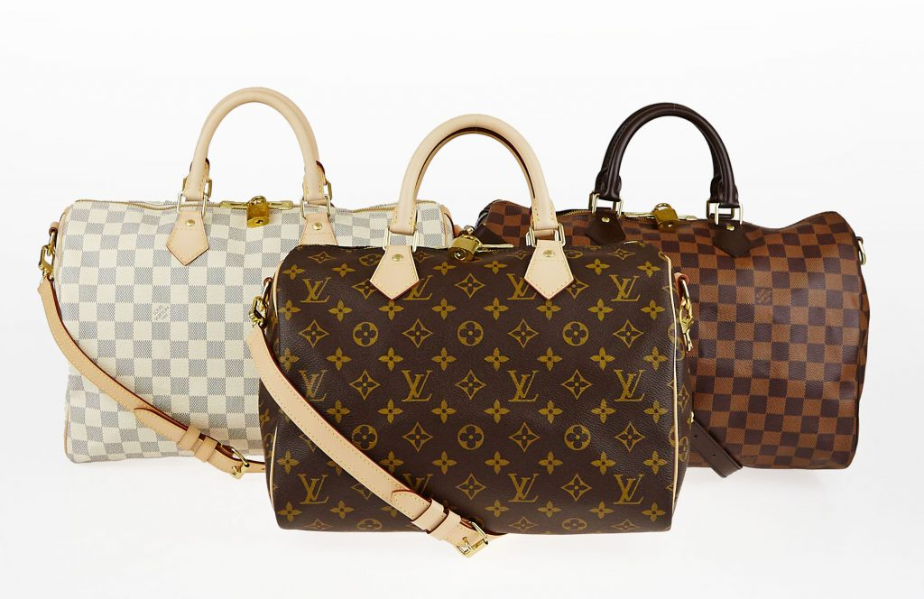 1dec29f57dc5 Louis Vuitton Speedy Bandouliere in Monogram, Damier Ebene and Damier Azur  | YoogisCloset.com