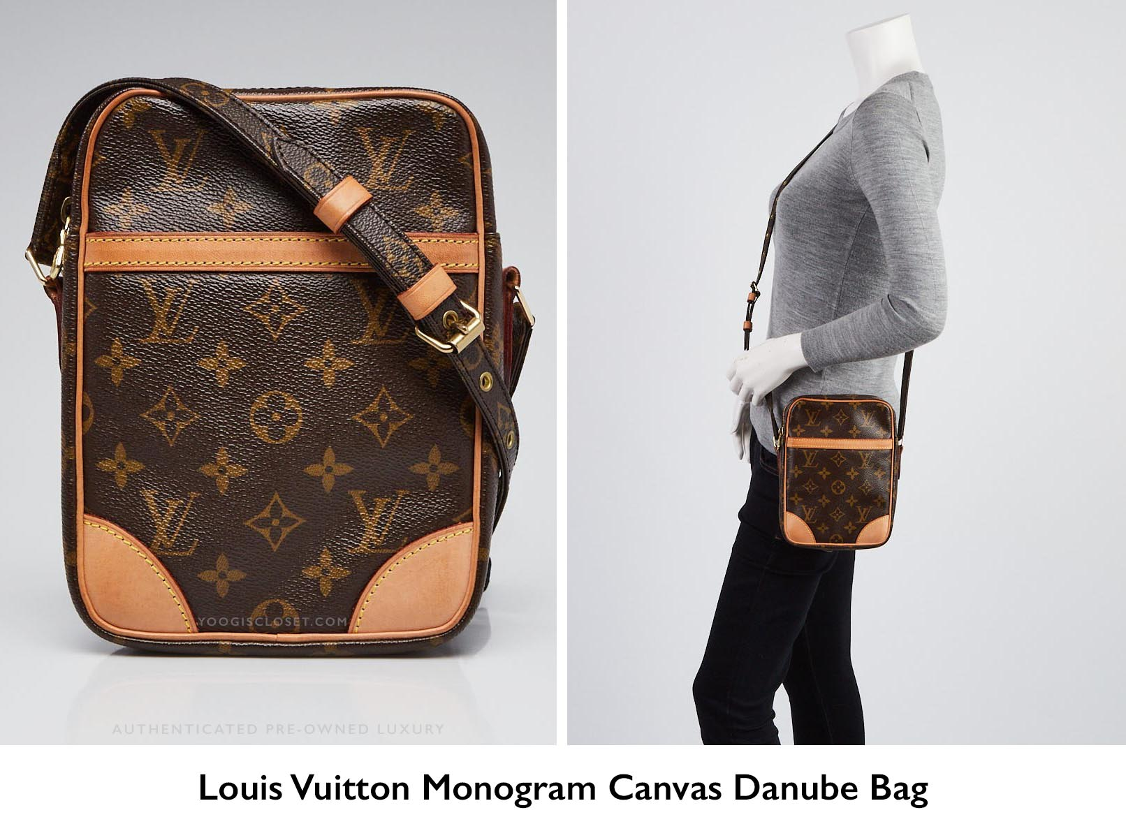 2129ead7833 Authentic louis vuitton monogram canvas danube crossbody bag jpg 1612x1200 Louis  vuitton sling bag