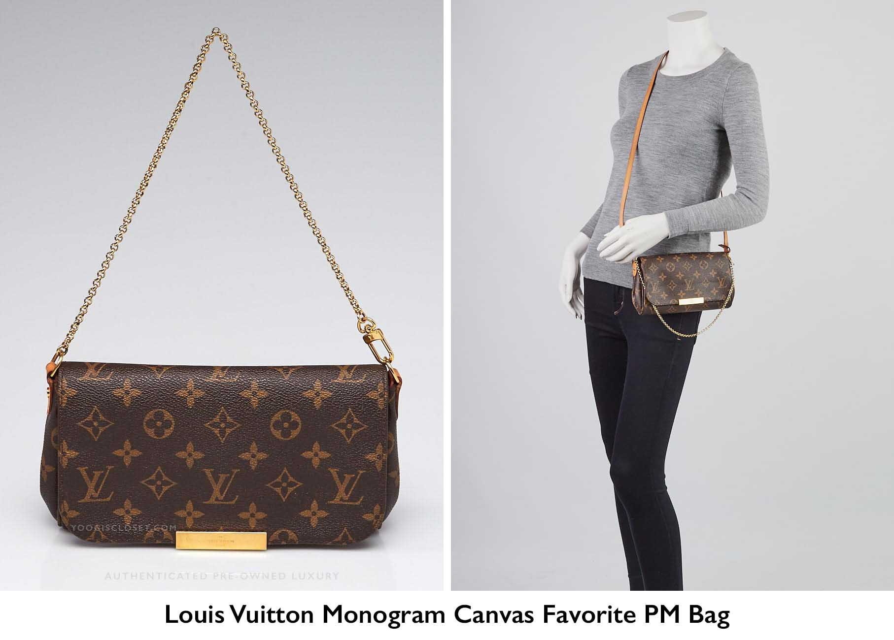 91d9976c3f25 Authentic Louis Vuitton Monogram Canvas Favorite PM Crossbody Bag |  Guaranteed Authentic at YoogisCloset.com