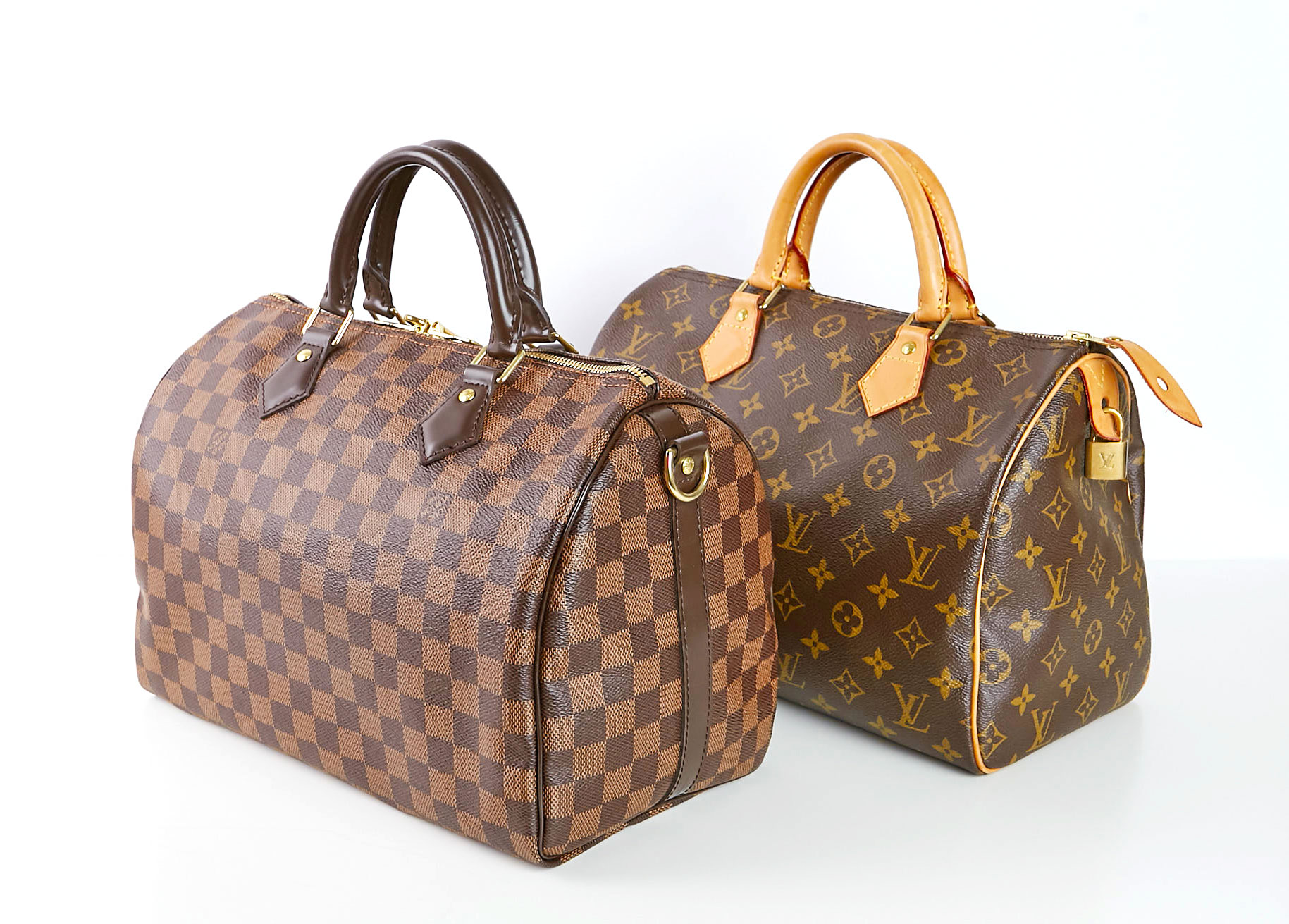 ca2981a96d6b Louis Vuitton Damier Ebene Speedy Bandouliere 30 and Louis Vuitton Monogram  Canvas Speedy 30 Bag