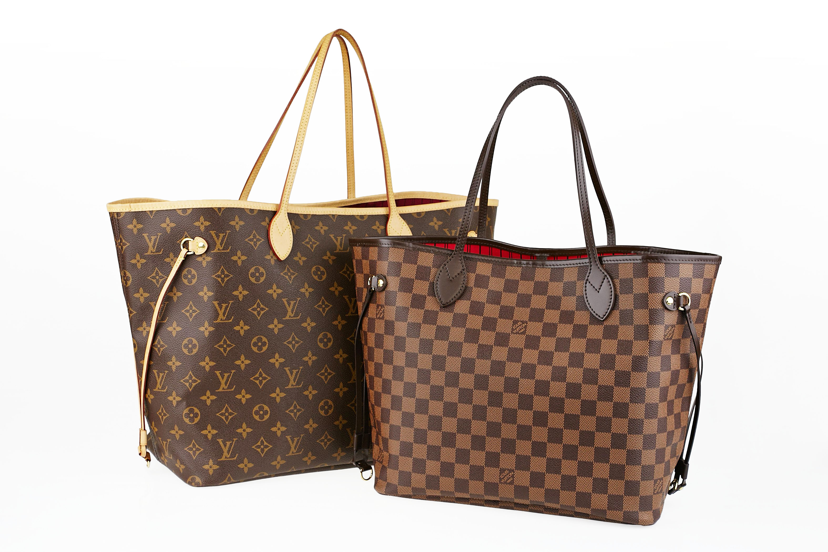 4b97a9ff87705 Louis Vuitton Monogram Canvas Neverfull GM and Damier Neverfull MM Tote  Bags