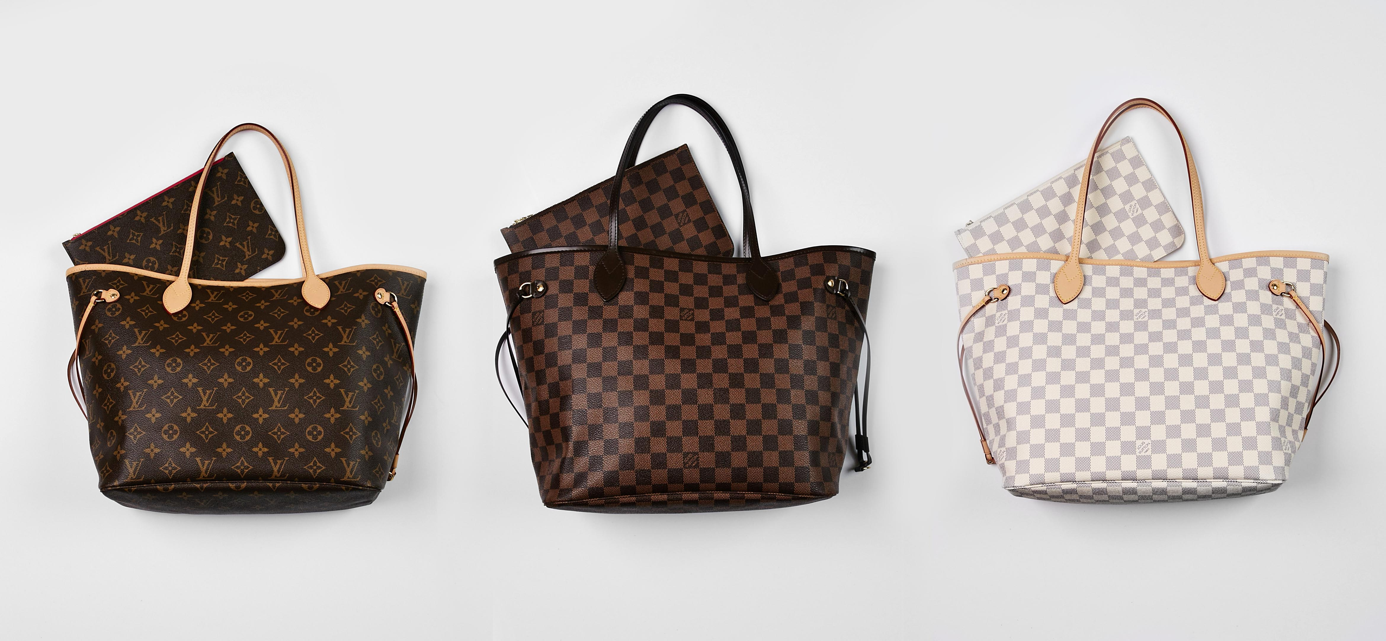 d98edf22775 Authentic Louis Vuitton Monogram, Damier Ebene, and Damier Azur Neverfull  Tote Bags   YoogisCloset