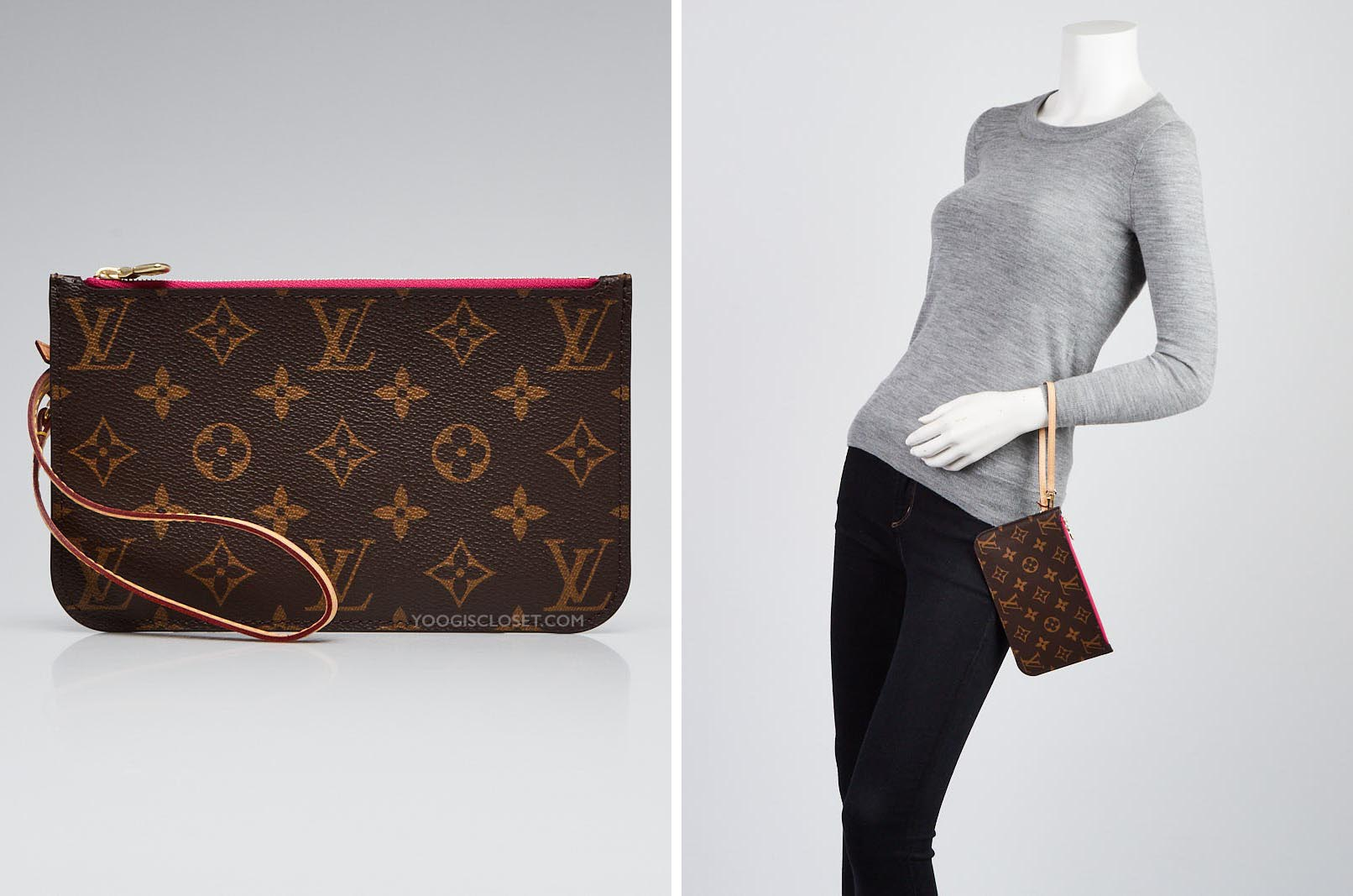 7a029137ba69 Neverfull Clutch Size Difference Guide - Yoogi s Closet Blog
