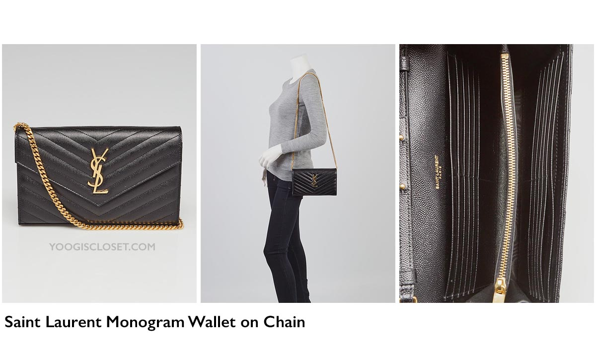 23a9673a55b Yves Saint Laurent Monogram Chain Wallet WOC Review | Yoogi's Closet  Authenticated Pre-Owned Luxury