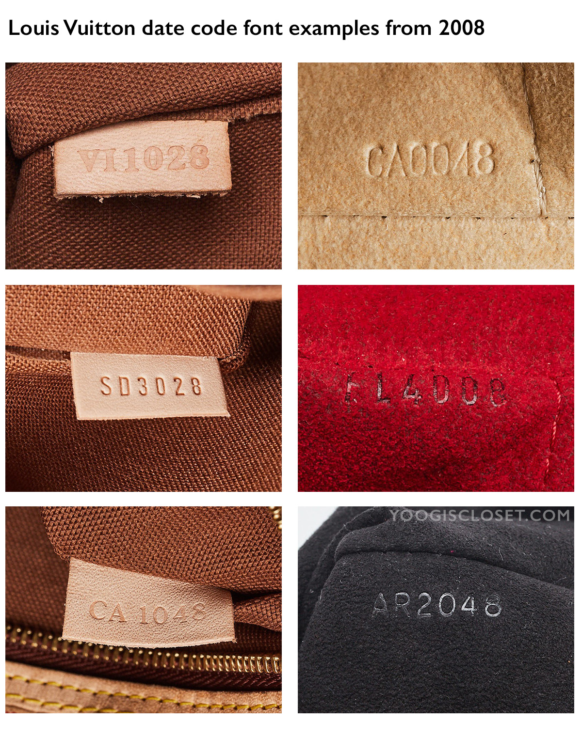 70b7b0729cf9 Louis Vuitton Date Code Examples from 2008 | Yoogi's Closet Authenticated  Pre-Owned Luxury yoogiscloset