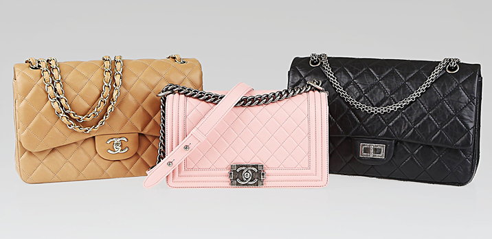Chanel flap bag and boy bag