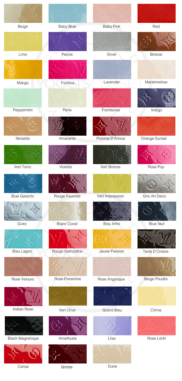 Louis Vuitton Vernis Color Guide