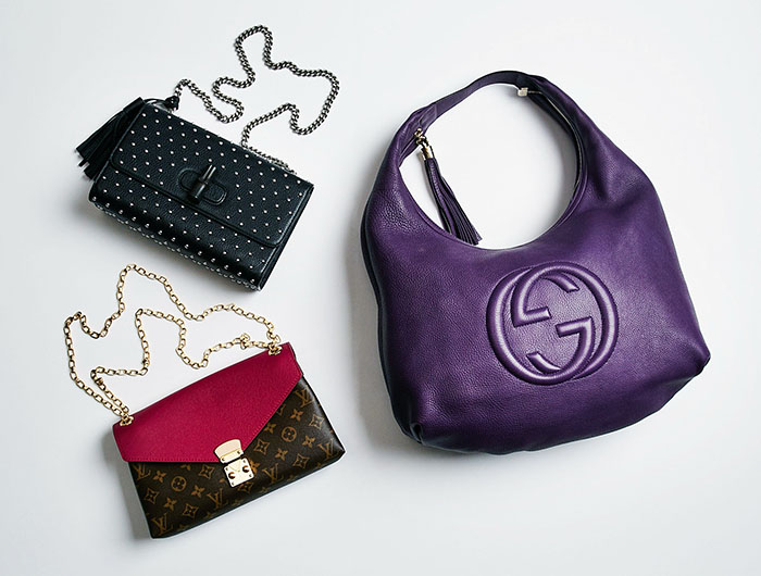 Handbag trends: hobo bag, chain handle, and studded bags