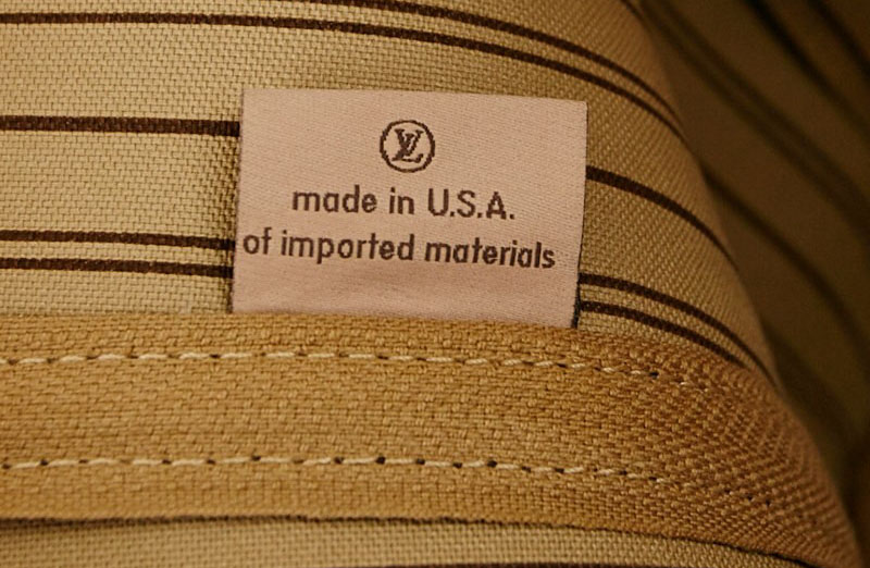 Louis Vuitton Made in USA cloth tag
