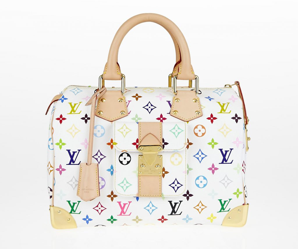 Louis Vuitton White Monogram Multicolore Speedy