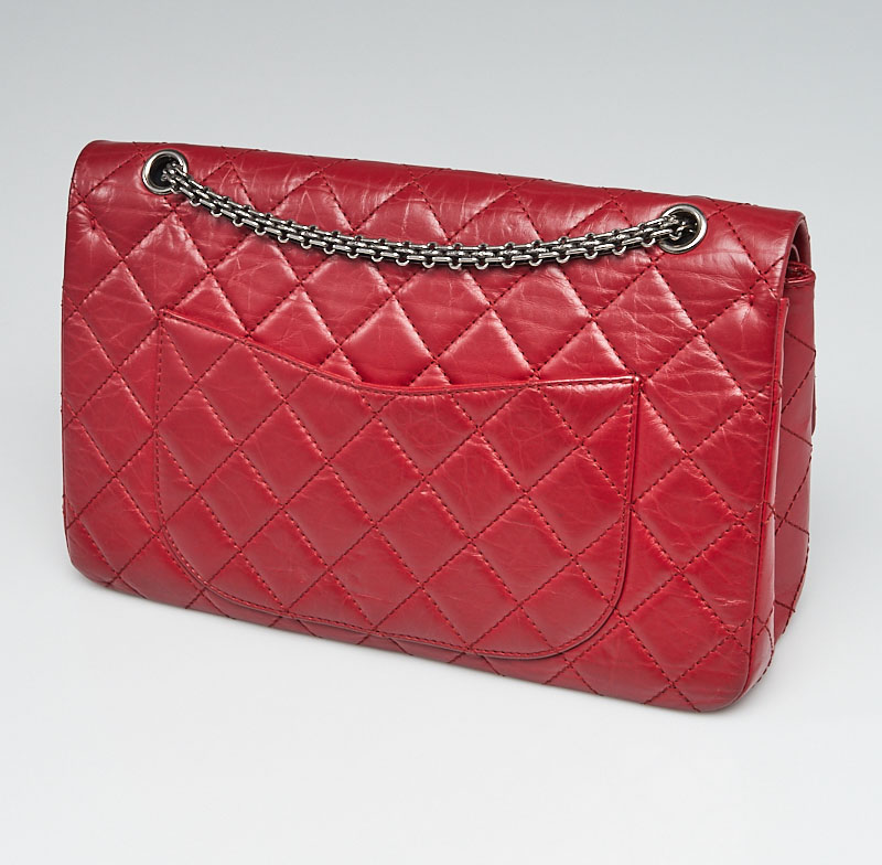 Chanel Red 2.55 Reissue Back Pocket | YoogisCloset.com
