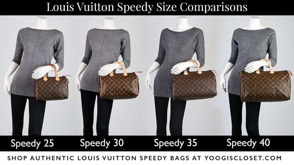 Louis Vuitton Speedy Model Size Differences | YoogisCloset.com