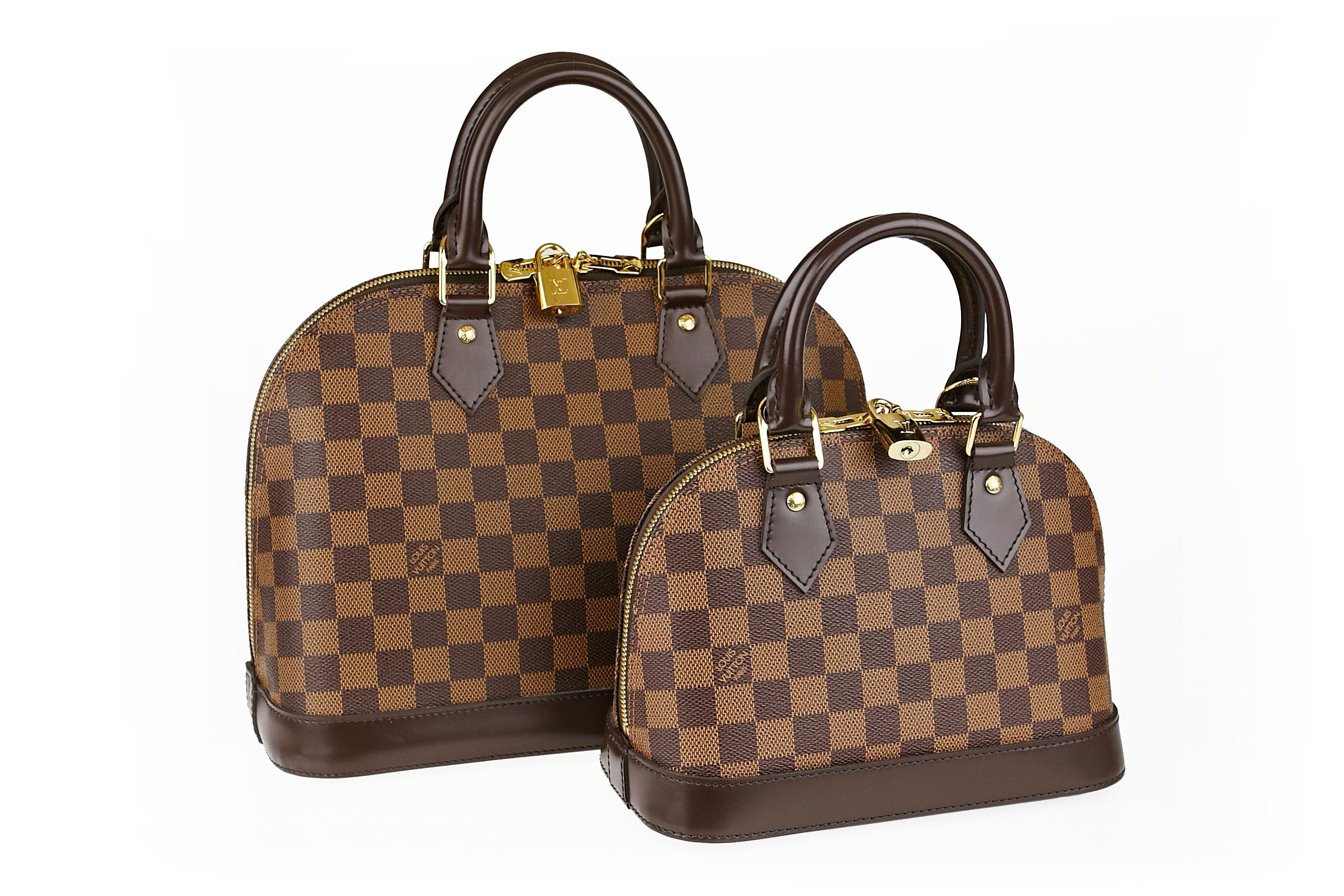 Louis Vuitton Damier Alma BB and PM Size Differences | YoogisCloset.com