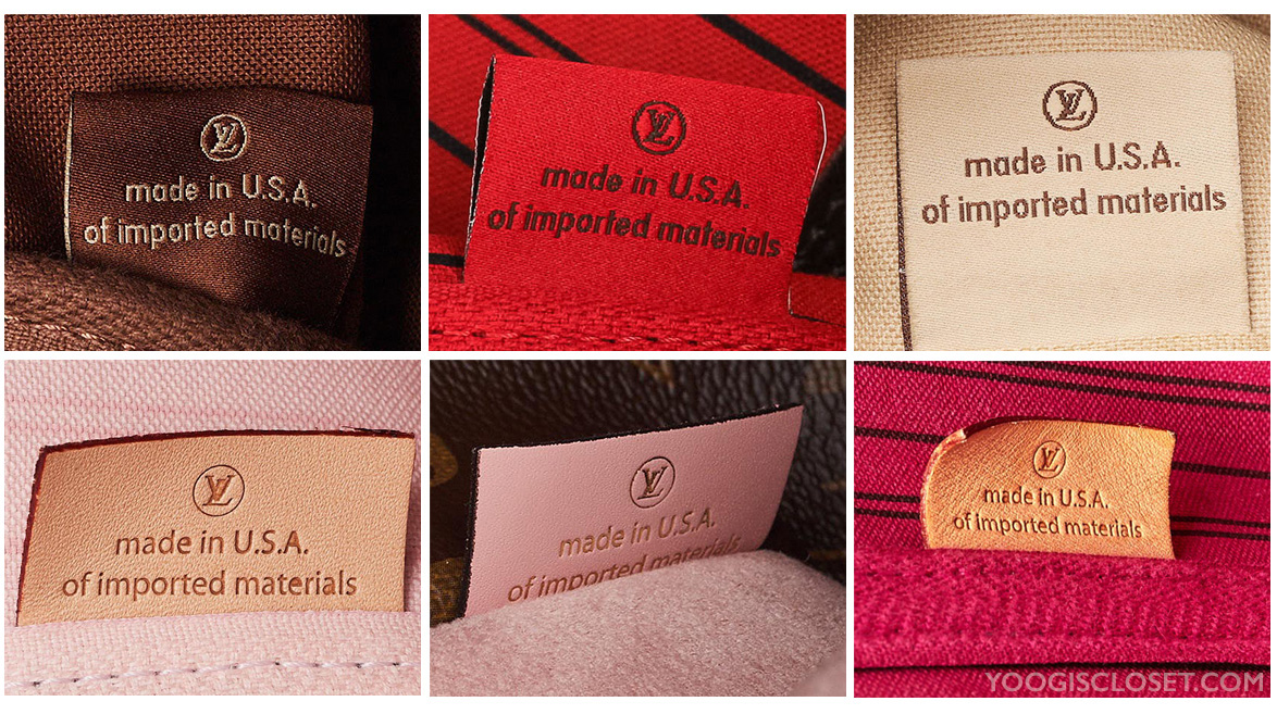 Fabric and Leather Made in USA of Imported materials tags | YoogisCloset.com