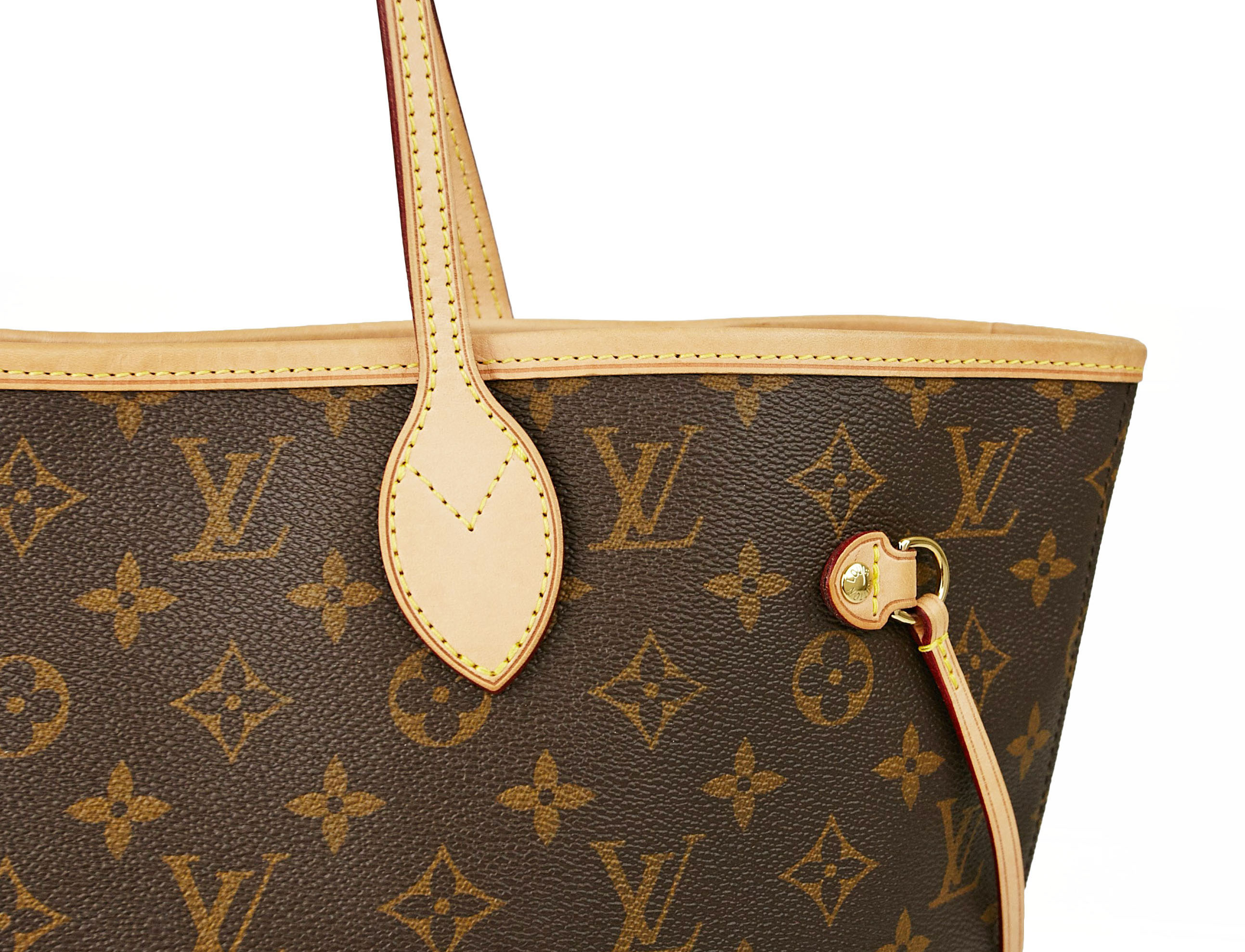 Louis Vuitton Neverfull Bag With Light Honey Patina | YoogisCloset.com