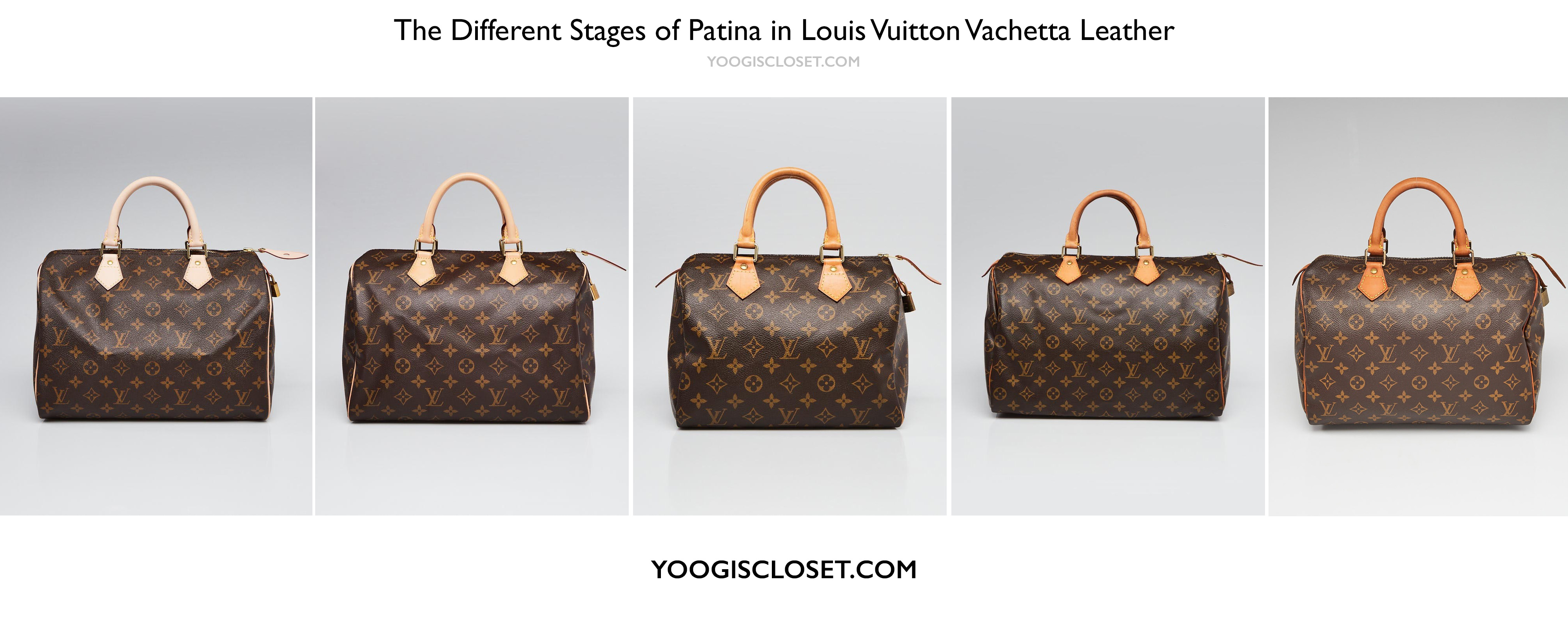Louis Vuitton Vachetta Leather Patina Stages | YoogisCloset.com