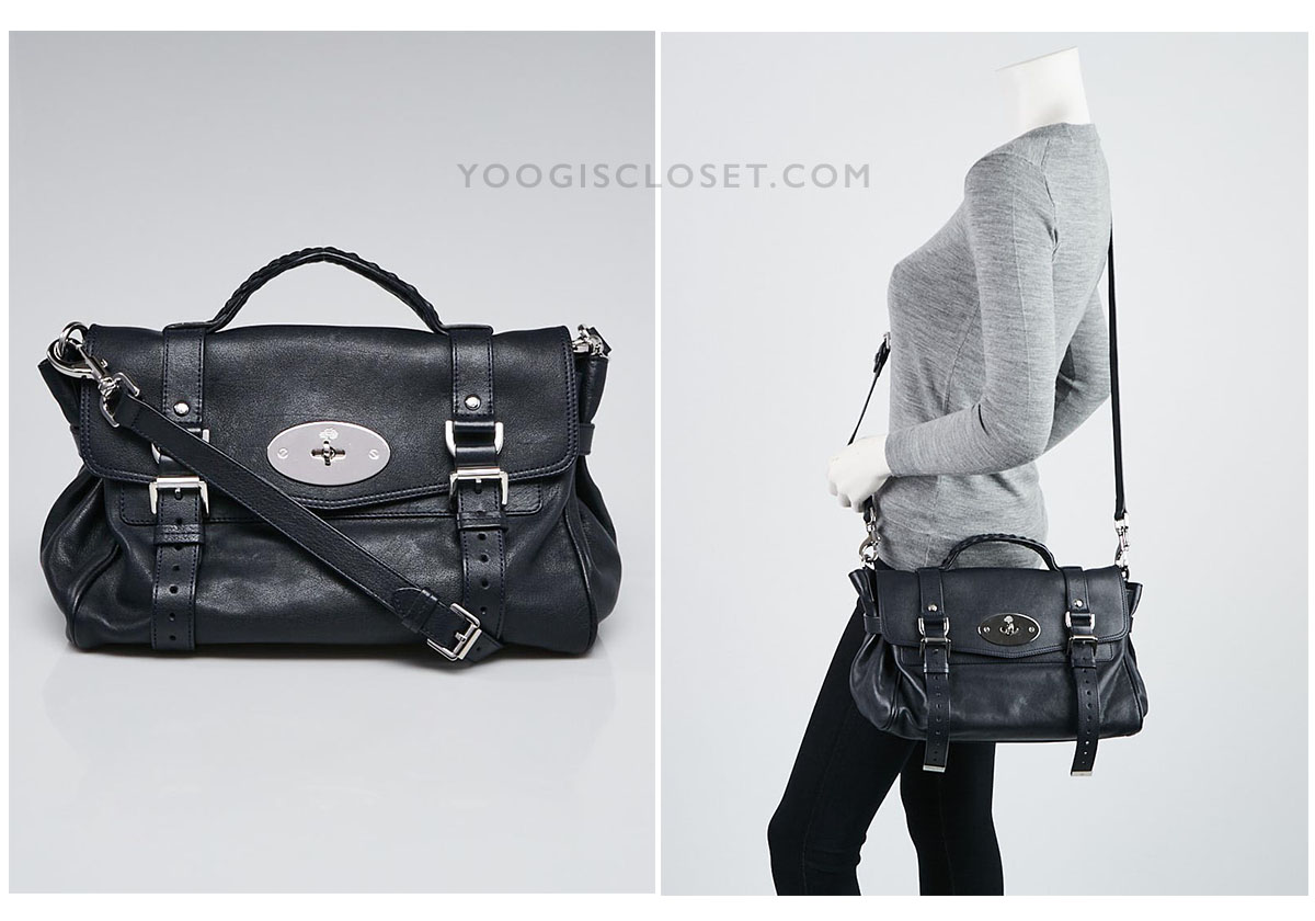Mulberry Alexa Satchel Bag | Yoogi's Closet Shop Authenticated Pre-Owned Luxury yoogiscloset.com