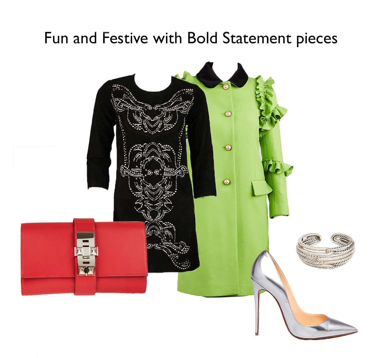 Festive Holiday Party Outfit Idea For Christmas | Yoogi's Closet Authenticated Pre-Owned Luxury yoogsicloset.com