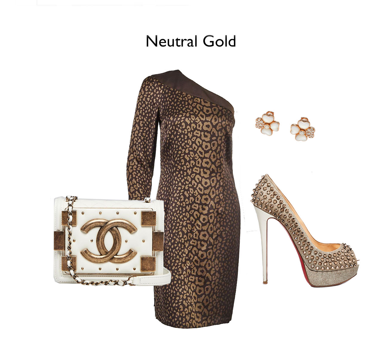 Gold Holiday Party Outfit Idea For Christmas | Yoogi's Closet Authenticated Pre-Owned Luxury yoogsicloset.com