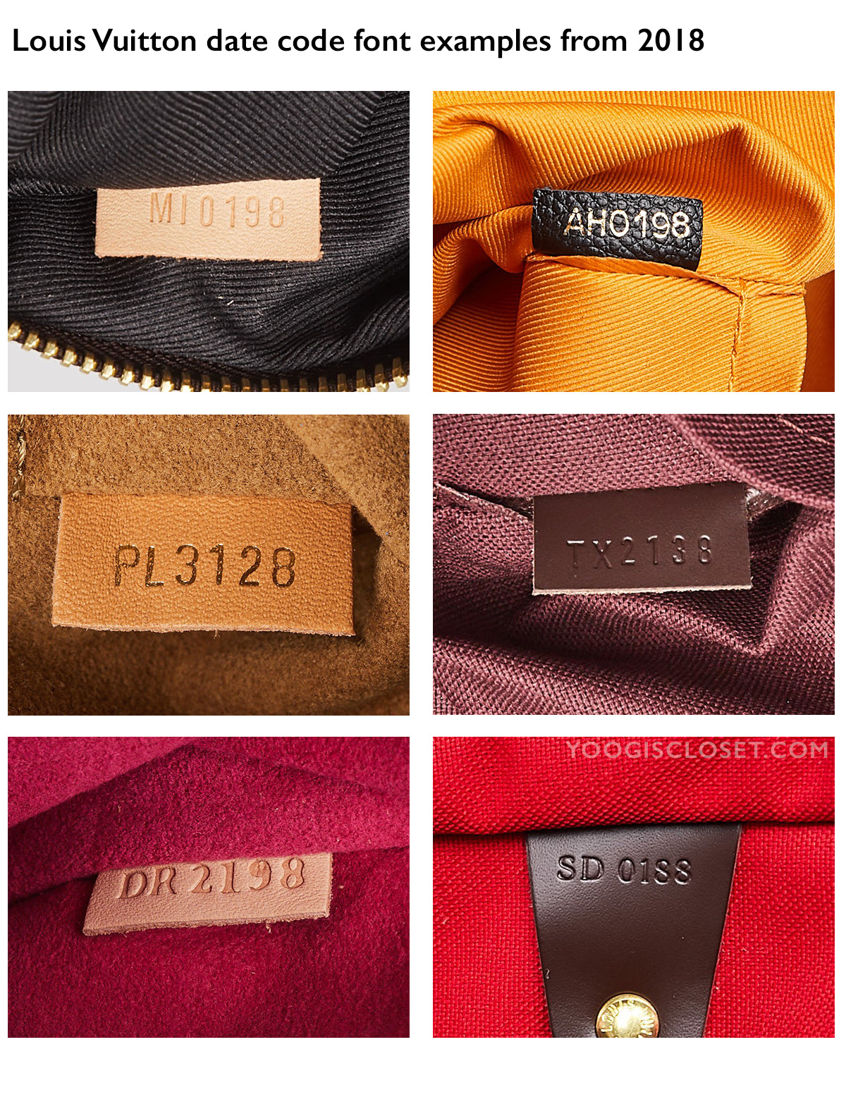 Louis Vuitton Date Code Examples from 2018   Yoogi's Closet Authenticated Pre-Owned Luxury yoogiscloset.com