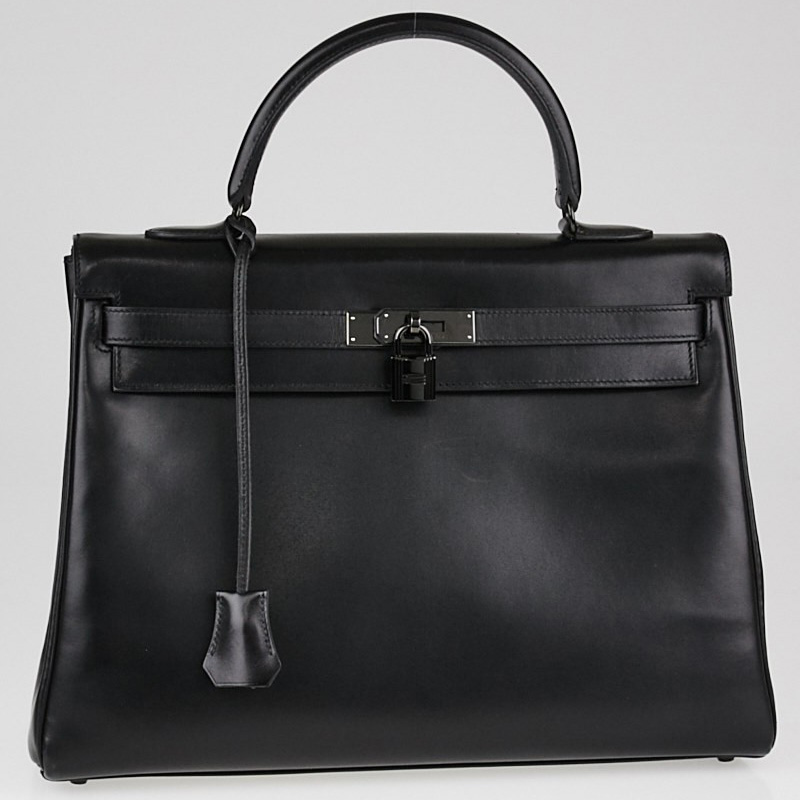 Hermes SO BLACK Kelly Bag | Yoogi's Closet Authenticated Pre-Owned Luxury yoogiscloset.com