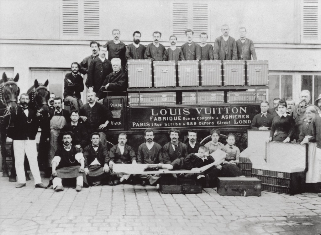 Louis Vuitton trunks and employees