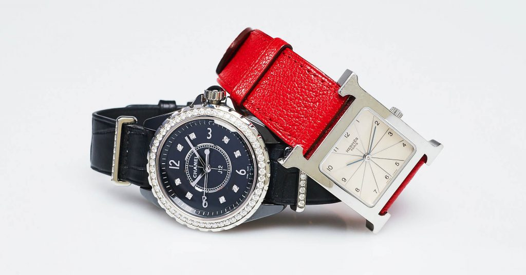 Chanel J12 and Hermes Heure H Watch | Yoogi's Closet Authenticated Pre-Owned Luxury yoogiscloset.com